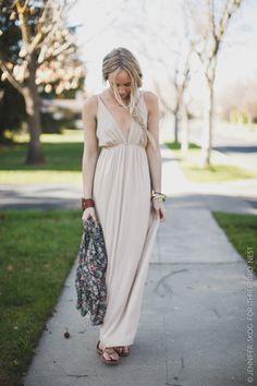 Sun-Kissed Beige Maxi Dress by Three Bird Nest | Women's Boho Clothing Boutique