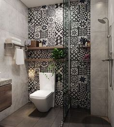45 Creative Small Bathroom Ideas and Designs — RenoGuide - Australian Renovation Ideas and Inspiration Bad Inspiration, Bathroom Inspiration, Bathroom Ideas, Bathroom Organization, Bathroom Storage, Bath Ideas, Bathroom Inspo, Budget Bathroom, Bathroom Cleaning