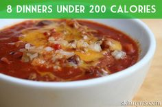 8+Dinners+Under+200+Calories