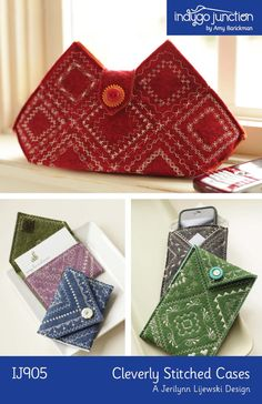 Cleverly Stitched Cases ePattern by indygojunction on Etsy, $9.99