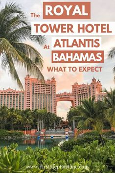 If you're visiting Atlantis Bahamas, consider staying at the Royal Tower Hotel, one of the six hotels at Atlantis Resort.  Here's exactly what to expect! Bahamas Resorts, Bahamas Honeymoon, Bahamas Cruise, Hotels And Resorts, Bahamas Trip, Royal Atlantis, Atlantis Bahamas, Vacation Destinations, Vacation Trips