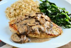 Slimming Eats Chicken with Creamy Mushroom Sauce - Gluten Free, Dairy Free, Whole30, Paleo, Slimming World and Weight Watchers friendly