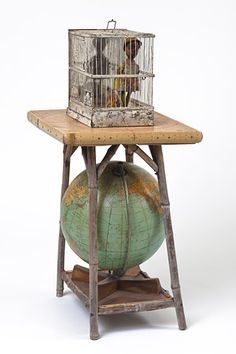 Betye Saar, Globe Trotter, 2007