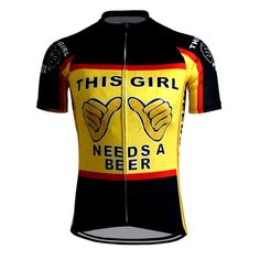 This Girl Needs A Beer Women's Funny Cycling Jersey | Freestylecycling.com