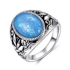 USA vendeur Coeurs Anneau Argent Sterling 925 Bijoux Blanc /& Rose Lab Opale Taille 11