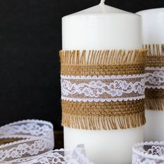 This DIY tutorial comes with a trick for making these real candles last from the wedding shower, to reception, to home decor & beyond!