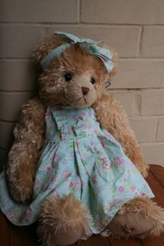 KENDAL is cute.  This Settler Bear is a delightful addition to any little girl's room (or big girl).  Price A$110.25
