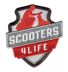 Lambretta or Vespa Scooter Patch Badge MOD n by smARTpatches