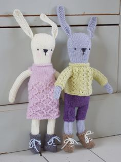 Knitted Nordic Rabbits by Fiona Goble