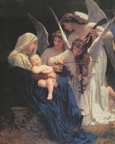 ご絵 ブーグロー「天使の歌」