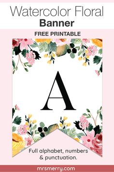 Create a banner for a birthday, bridal shower or baby shower. Full alphabet, numbers and punctuation. Happy Birthday Banner Printable, Free Printable Banner Letters, Diy Birthday Banner, Free Banner, Happy Birthday Banners, Printable Party, Farm Birthday, Birthday Invitations, Birthday Parties