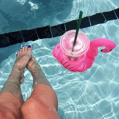 Everyone should own a drink flamingo float.