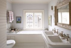Peaceful (Very similar layout to our master bath that desperately needs updating. I think I have my next project!)