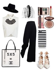 """Untitled #5"" by amandasoraya on Polyvore featuring Miss Selfridge, Gianvito Rossi, Chanel, Zimmermann, H&M, Kate Spade, Charlotte Tilbury and Avenue"