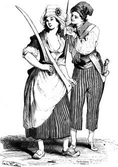Women in the French Revolution:  While most of these women were citizens of Paris, they came from  very diverse backgrounds. There were the women of the suburbs (faubourgs—working class), women of nobility (or the aristocracy), women of the burgeoning bourgeoisie (middle class—the merchants), and women of the intelligentsia (the intellectuals).