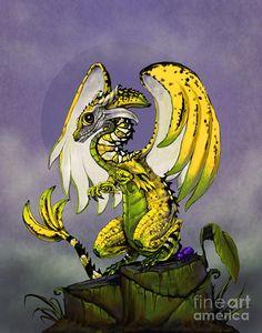 Banana Dragon Digital Art by Stanley Morrison