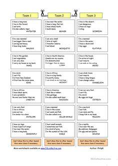 Animal Riddles 2 (Medium) worksheet - Free ESL printable worksheets made by teachers English Riddles, English Games, English Activities, English Vocabulary, Reading Comprehension Worksheets, Vocabulary Worksheets, Printable Worksheets, English Lessons, Learn English