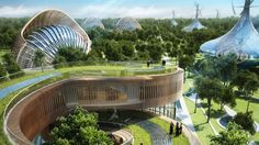 These Futuristic Villas Would Produce More Energy Than They Consume