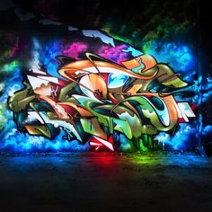 A dope piece but the photography and editing makes it even doper. Graffiti Piece, Graffiti Wall Art, Best Graffiti, Graffiti Drawing, Graffiti Painting, Graffiti Alphabet, Graffiti Lettering, Street Art Graffiti, Tag Art