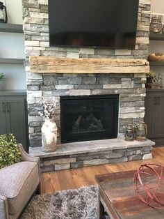 Browse photos of Basement Rec Room ideas. Find ideas and inspiration for Basement Rec Room to add to your own home. See more ideas about Game room basement, Game room and Finished basement bars Basement Fireplace, Farmhouse Fireplace, Home Fireplace, Fireplace Remodel, Fireplace Design, Fireplace Ideas, Stone Veneer Fireplace, Stacked Stone Fireplaces, Beach Cottages