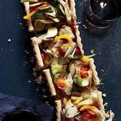 Provençal Vegetable Tart | Before she opened Vergennes Laundry, Julianne Jones sold savory tarts at the local farmers' market. This one is made with the vegetables that are in ratatouille.