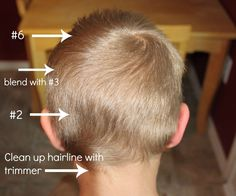 How to Do a Boy's Haircut with Clippers - Frugal Fun For Boys and Girls - How to cut boys' hair with clippers - Boys Fade Haircut, How To Boys Haircut, Little Boy Hairstyles, Kids Hairstyles Boys, Toddler Boy Haircuts, Haircuts For Boys, Kids Cuts, Boy Cuts, Hair Makeup
