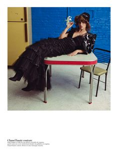 couture: freja beha erichsen by inez & vinoodh for vogue paris may 2013   visual optimism; fashion editorials, shows, campaigns & more!