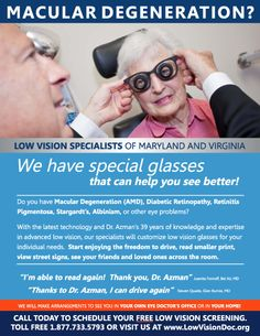 Help For Macular Degeneration!