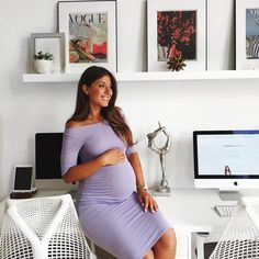 Mimi Ikonn Preggo Style Mimi Ikonn pregnant Purple Dress Summer London