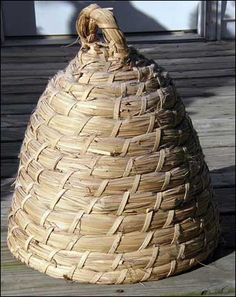 How to make a Bee Skep. It's interesting to find out that bees are not indigenous to North America but brought here by the pilgrims in 1638. The Indians called them European Flies.