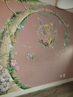Pictura pereti Kids Room Murals, Bedroom Murals, Kids Bedroom, Fairytale Room, Disney Mural, Fairy Room, Disney Bedrooms, Baby Room Design, Baby Kind