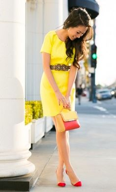 Yellow Party Dress for mom of the sunshine party