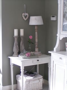 Warm grey walls.