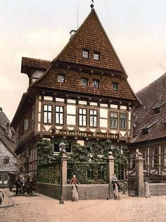 Here for your perusal is a one-of-a-kind photograph of Cathedral, Hildesheim, Lower Saxony, Germany. This color photochrome print was created between 1890 and 1900 in Hanover, Germany.
