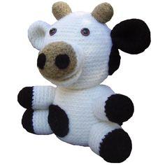 amigurumi crochet plush stuffed animal cow pattern
