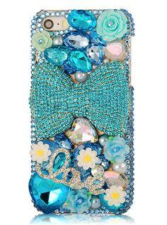 Blue Rhinestone Diamond Bling iPhone 5S Cover
