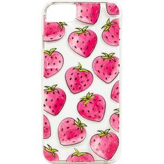 Skinny Dip Strawberry Iphone 6/7 Phone Case ($19) ❤ liked on Polyvore featuring accessories, tech accessories and pink