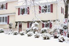 Split level Christmas home in the snow-www.goldenboysandme.com