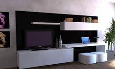 Modular Lcd Rack Panel Tv Moderno Living Progetto Mobili - $ 11.493,00 en MercadoLibre