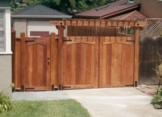 Custom Redwood Gate by L Huls Designs