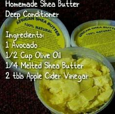 Home made deep conditioner