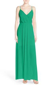 Adelyn Rae Cutout Back Chiffon Maxi Dress