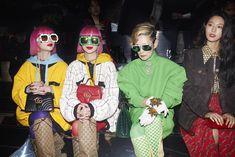 Attending the Gucci Fall Winter 2019 show, Ami and Aya, Mari Natsuki and Seol Hyun. Gucci Fashion, Fashion Show, Fashion Looks, Womens Fashion, Visual Diary, Alternative Fashion, Designer Wear, Baddies, Balenciaga