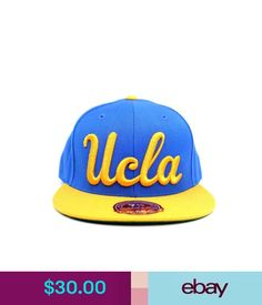 Hats University Of California Los Angeles Ucla Blue Yellow Mitchell & Ness Fitted Hat #ebay #Fashion
