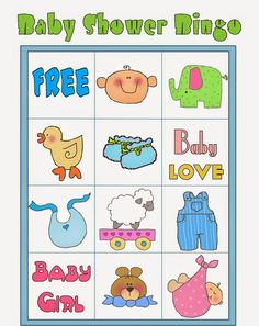 Bingo para Baby Shower para Imprimir Gratis. Bingo Baby Shower, Baby Shower Printables, Shower Party, Free Printables, Diy Baby Shower Decorations, Baby Shawer, Baby Love, Frozen Bebe, Blogger Templates