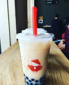 #Repost @the.hangry.foodie Lavender and Jasmine Milk Tea with Boba- best boba I've ever had!