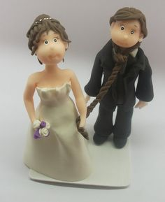 Handmade Cake Topper Hanged groom  made by by RUSTIKOcakeDecoratio, €50.00