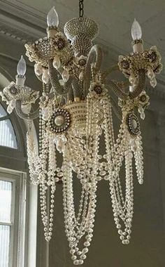 This Chandelier Ivory Pearl Garland Decoration Pearl Beads Centerpiece Shabby Chic Home Decor Shabby Chandelier Beads is just one of the custom, handmade pieces you'll find in our decorations & embellishments shops. Pearl Garland, Pearl Chandelier, Vintage Chandelier, Bathroom Chandelier, Unique Chandelier, Shabby Chic Chandelier, Chandelier Ideas, Closet Chandelier, Crystal Chandeliers