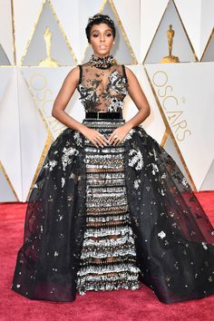 Black Women Hairstyles 2017 Oscars Red Carpet | JANELLE MONAE