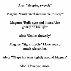 Awwww Malec<<<< I don't know how my otp kills me as much as dying characters
